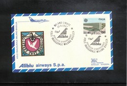 Italia / Italy 1987 Aliblu Airways Inaugural Flight Milano - Basel - 6. 1946-.. Republik