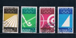 Germany B446-49 Used Set Munich Olympics 1972 (GI0402P100)+ - [7] Federal Republic