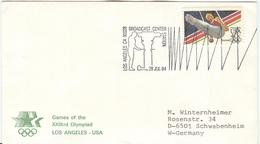 USA Olympic Cover With Olympic Stamp And Cancel Broadcast Center Los Angeles Type I - Ete 1984: Los Angeles