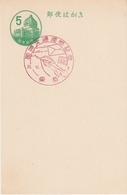 Japan 1960 - International Letter Writing Week: Hand Writing, Fountain Pen - FDC CTO On A Postal Card - Postales