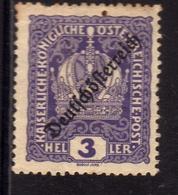 AUSTRIA ÖSTERREICH 1918 1919 AUSTRIAN CROWN OF REPUBLIC ISSUE 3h MH - Nuovi