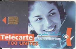 MOROCCO - Telecom Operator, Maroc Telecom 100 Unites, Chip CHT10, CN : 3002, 09/01, Used - Telecom Operators
