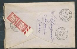 LAC  DE JUILLET 1940 TAXEE Au Dos Par Duval 30 Cents X 2  Oblitéré  Tours RP INDRE ET LOIRE , POSTE RESTANTE   -bpho4305 - Postmark Collection (Covers)