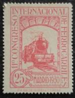 11 Congrès Internacionnal Des Chemins De Fer N° 435 Neuf - 1889-1931 Royaume: Alphonse XIII