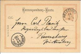 Ganzsache Feldkirch Nach Ravensburg 1910 - 22 Mm Stempel-Innendurchmesser Fingerhut? - Cartas