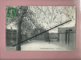 CPA Abîmée -  Pont Les Brie    -  (Somme) -  La Place - Other Municipalities