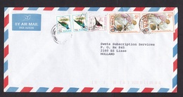 Kenya: Airmail Cover To Netherlands, 1996, 5 Stamps, Bird, Blood Donation, Red Cross, Rare Real Use (traces Of Use) - Kenia (1963-...)