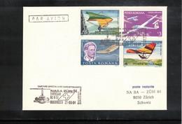 Romania 1984 Swissair Special NABA Zueri 84 Flight Bucuresti - Zuerich - 1948-.... Republiken