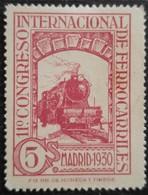 11 Congrès Internacionnal Des Chemins De Fer N° 431 Neuf Avec Charnière - 1889-1931 Royaume: Alphonse XIII