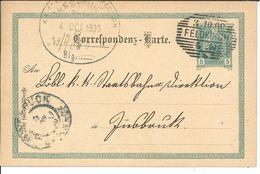 Ganzsache Feldkirch Nach Innsbruck 1900 - Cartas