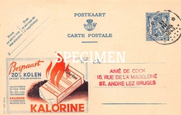 Briefkaart - Publibel  515 - Kalorine Bespaart 20% Kolen - Warneton - Advertising