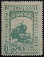 11 Congrès Internacionnal Des Chemins De Fer N° 433 Neuf Avec Trace De Charnière - 1889-1931 Royaume: Alphonse XIII