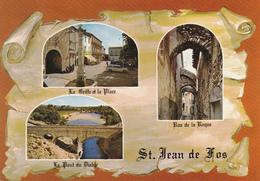 34  SAINT JEAN DE FOS  / 3 VUES SUR PARCHEMIN / BLASON - France