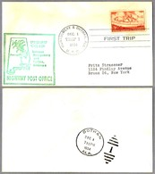 FIRST TRIP Highway Post Office: MONTGOMERY & DOTHAN, Alabama, 1 Diciembre 1954 - Correo Postal