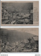 Haybes-Lot De 2 CPAs 14 Aout 1918-La Procession Dans Les Ruines - France