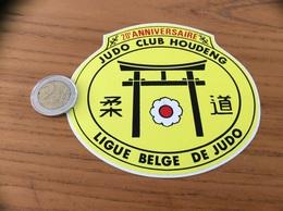 AUTOCOLLANT, Sticker «JUDO CLUB HOUDENG - LIGUE BELGE DE JUDO» (Belgique) - Autocollants