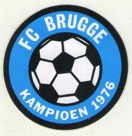 AUTOCOLLANT . STICKER . FOOTBALL . VOETBAL . F.C . BRUGGE . KAMPIOEN  1976 - Autocollants