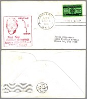 FIRST TRIP Highway Post Office: SPRINGFIELD & MARION, Illinois, 1 Abril 1955 - Correo Postal