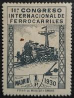 11 Congrès Internacionnal Des Chemins De Fer N° 439 Neuf Avec Trace De Charnière Et Point D'oxide - Unused Stamps