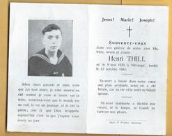 Faire-Part Décès 1944 Marin De NILVANGE - Obituary Notices