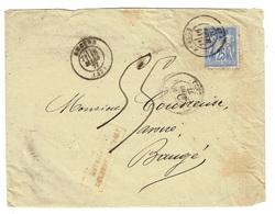49 MAINE ET LOIRE ANGERS ENV Vide TAD 17 Du 16/03/1877 Sur N° 78 AFFRANCHISSEMENT INSUFFISANT Taxe 55 C TTB - Marcophilie (Lettres)