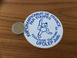 AUTOCOLLANT, Sticker «XVII ème CHAMPIONNATS DE FRANCE PAR EQUIPES UFOLEP JUDO - 1989 - TOULOUSE (31)» - Aufkleber
