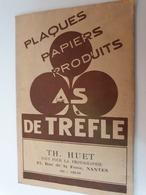 POCHETTE NEGATIFS PUBLICITAIRE AS DE TREFLE VERITAS IPOVIR TH HUET A NANTES (rue De La Fosse) + NEGATIFS - Matériel & Accessoires