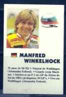 1985 Pocket Poche Calendar Calandrier Calendario Portugal Formula 1 Manfred Winkelhock  N 26 - Calendars