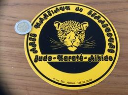 AUTOCOLLANT, Sticker «Judo Karaté Aikido - ARTS MARTIAUX DE STRASBOURG (67)» (tigre) - Autocollants