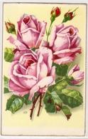 BL 290 , OLD FANTASY POSTCARD , FINE ART , FLOWERS And  STILL LIVE , Signed WM - Andere Illustrators