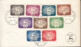ISRAEL  Porto 12-20, FDC, Springender Hirsch - Emblem Der Israelischen Post 1952 - Impuestos
