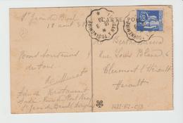 GARD - Convoyeurs LE VIGAN à TOURNEMIRE / CPA De 1938 - Marcophilie (Lettres)