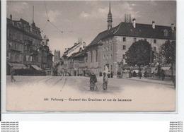 Fribourg-Couvent Des Ursulines Et Rue De Lausanne - FR Fribourg