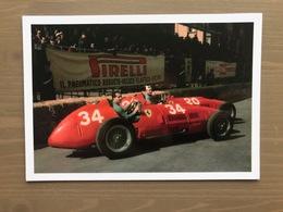 Cartolina A. Ascari E N. Farina Su Ferrari 375s Valentino Gran Prix Torino 1952 - Grand Prix / F1