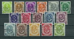 Bundesrepublik 123/138 Gest. - Used Stamps