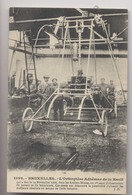 L'Orthoptère Adhémar De La Hault ( Hélicoptère) - Bruxelles 1908 - Gros Plan - Animée - Hélicoptères