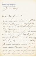 Philippe Comte De Paris Lettre à Un Général Palacio De Villamanrique Le 7 Janvier 1889 - Autographes