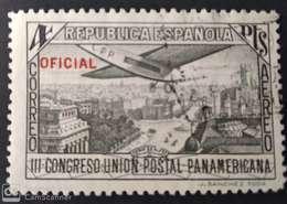 Edifil 634.1931 Congreso De La Unión Postal Panamericana. 1 Pta. Sobrecarga. - 1931-50 Usati