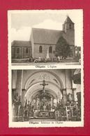 C.P. Ollignies = L '  Eglise  +  Intérieur De L' Eglise - Lessines