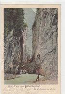 """Gruss Aus Dem Glarnerland - Die Linthschlucht - Animiert - Stabstempel """"Fruttberg"""" - 1908            (P-225-90606) - GL Glaris"""