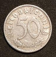 ALLEMAGNE - 50 Reichspfennig ( Pfennig ) 1941 D - Deutsches Reich - [ 4] 1933-1945 : Troisième Reich