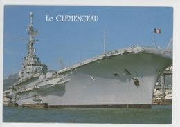 """Porte Avions """"Clemenceau"""" à Toulon (cp Vierge N°117) - Guerre"""