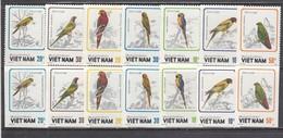 Vietnam 1988 - Oiseaux Grimpeurs, Mi-Nr. 1922/28, Dent.+non Dent., MNH** - Vietnam
