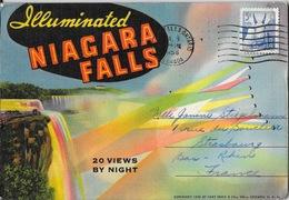 Pochette Chutes Du Niagara: 20 Views By Night, Illuminated Niagara Falls (Canada, New York) - Postcards
