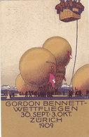 Gordon-Bennett Wettfliegen 1909 - Kompl.Serie Von 6 Karten            (P-225-90606) - Mongolfiere