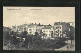 AK Brandenburg A. H., Anlagen Und Gebäude Am Magdeburger Platz - Brandenburg