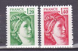 N° 2101 Et 2102 Type Sabine: Une Série En Timbres Neuf Impeccable Sans Charnière - Ongebruikt