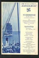 AK Passagierschiff Monte Olivia, 37. KdF-Seereise, Speisenfolge Am 5.9.1935 - Paquebots