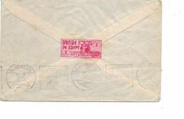 SH 0352. 1935. Vignette  BRITISH FORCES IN EGYPT / 1 PIASTRE / LETTER STAMP Au Dos D' 1 L. ALEXANDRIE + ABU SUWEI V. Ang - Egitto