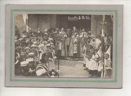 CPA - (67) BRUMATH - Carte-Photo De La Sortie De Messe Avec Evêque, Curés Et Habitants Du Bourg Le 3 / 7 / 21 - Brumath